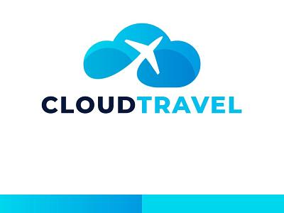 Cloud Travel design illustration logo graphic design