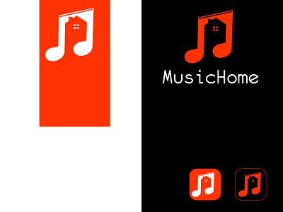 MusicHome design illustration logo graphic design