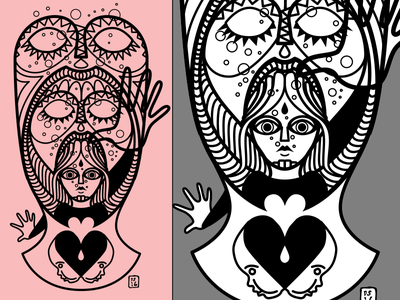 losing my mind? vector illustration drawing person personal art love