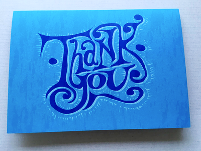 thank you card typography hand lettering lettering illustration vector