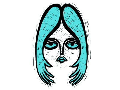 hair face hands female woman hair vector illustration drawing doodle personal art