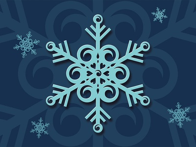 Surf snowflake greeting card holiday card wave surf vector design art illustration