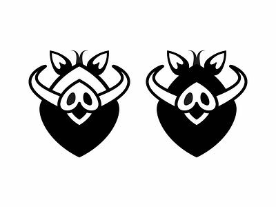 2019 Year of the Boar icon design love vector zodiac boar