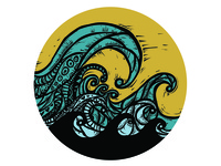 Wave coaster for Sticker Mule giveaway sticker mule giveaway contest surf ocean wave coaster