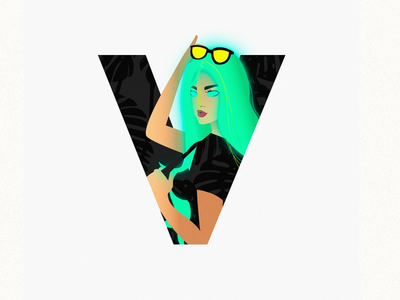 V characterdesign character colorful design 36daysoftype im designs illustration