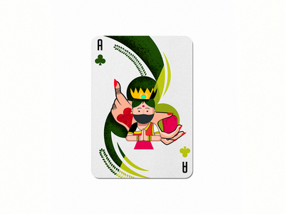 1 indian club playing cards colorful design dribbble 36daysoftype im designs illustration