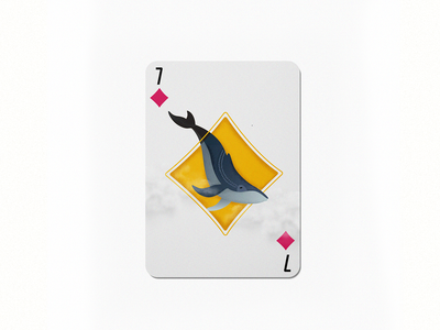 7 red playingcards diamond whale colorful design dribbble 36daysoftype im designs illustration