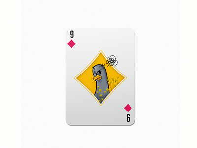 9 pigeon colorful colorful design smart playing card diamond dribbble 36daysoftype im designs illustration