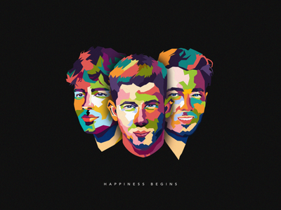 Happiness Begins Dribbble marketing happiness begins dribbble artwork colorful design color art wpap jonasbrothers illustration