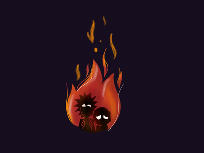 Take 2 expression procreate animation fire dribbble illustration rickandmorty