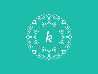 Personal Logo Rebrand lines pattern symmetric kate identity mono mandala k brand rebrand logo personal
