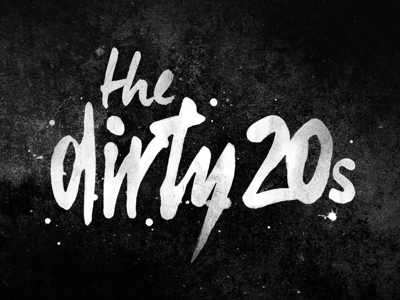 Dirty 20s Logo band texture splatter grunge logo typography type lettering brush