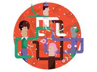 Fame Holiday Greeting Illustration