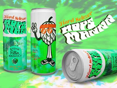 Hops Mann beer design brewery graphic design branding illustration design