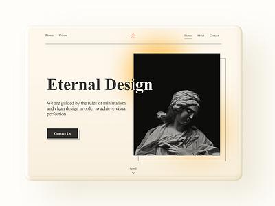 Eternal Design   Web Design user interface design ui design motion design artistic website website design web design animation uiux ui inspiration figma design inspiration design