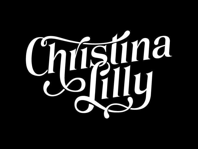 Christina Lilly Logo Vectorized logo type typography lettering custom type logotype