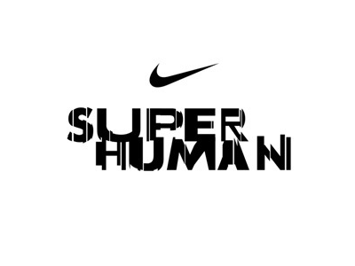 Human to Super Human fractured nike typography logo type logotype sport sports