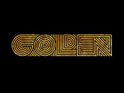 Golden concept sketch wordmark type lettering