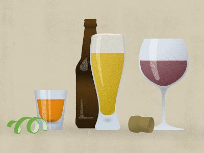 Boozy booze drinking drink shots beer wine design texture textures infographic vector digital illustration illustration alcohol