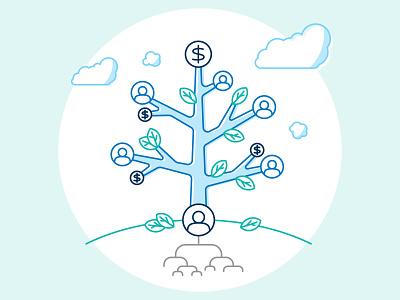 Family Money Tree vector infographic design family tree trees tree genealogy inheritance icon illustration