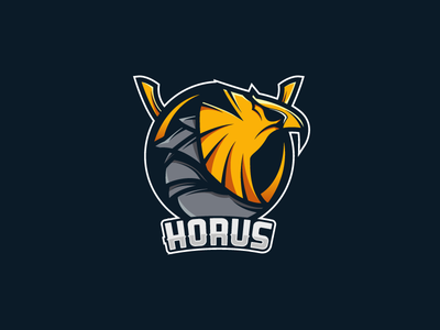 Horus mascot logo swords egypt horus logo mascot illustrator pentool billion billionarts
