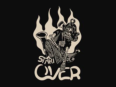Start Over apparel streetwear darkness illustration tshirt tshirt design