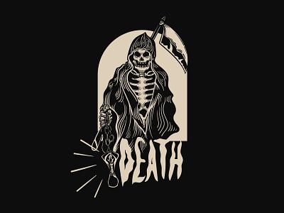 Death grim reaper skull illustration streetwear darkness illustration tshirt design tshirt