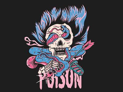 Poison apparel streetwear tshirt tshirt design poison toxic skull illustration