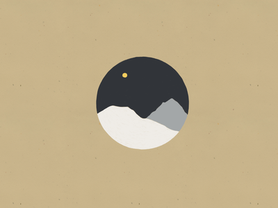 Moon Series 2 moon landscape illustration flat design circles