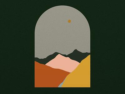 Landscape digital painting digital vector vector shapes flat mountains landscape painting landscape
