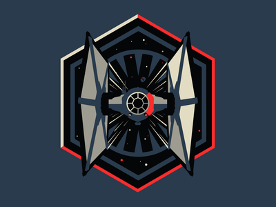 Star Wars the Force Awakens Tie Fighter badge force awakens starwars apparel design logo illustration design tie fighter star wars