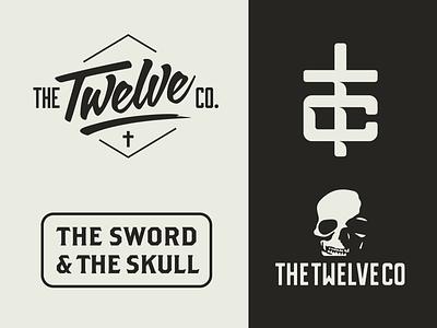 The Twelve Co crucifix cross typography modern christian design christian the twelve co hat design merch design branding logo design illustration