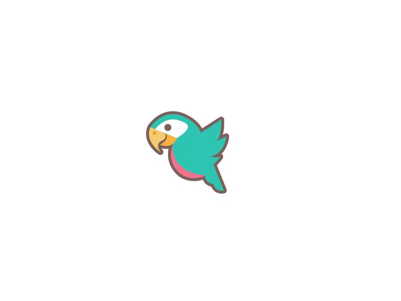 Parrot Logo mark birds bird branding illustration kids logo parrot