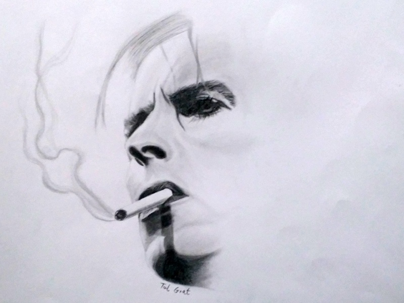 David Bowie - Time takes a cigarette david bowie portrait drawing art pencil realistic drawing realistic fine art