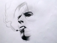 David Bowie - Time takes a cigarette