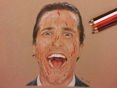 American psycho - Realistic pencil drawing