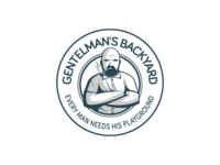 Gentelman's backyard logo sketch