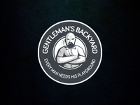 Logo for gentleman's backyard