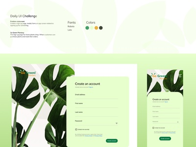 Daily UI Challenge 001 website app ux design graphic design
