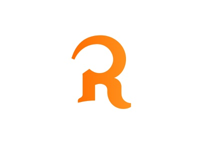 """R"" Logo for Reworn.co reworn gradient orange site app icon logo r"