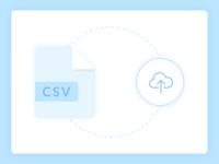 CSV upload illustration