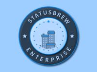 Statusbrew Enterprise Badge