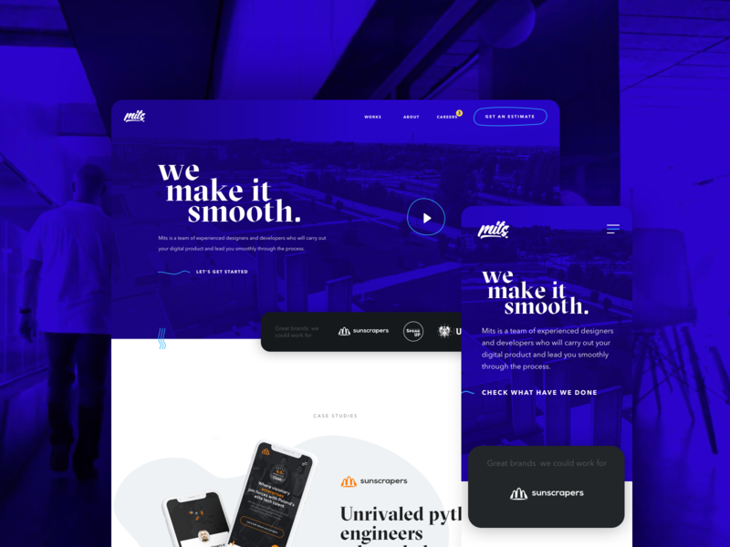 Mits homepage uxdesign uxui ux logo landingpage design animation software landing android software house ios app