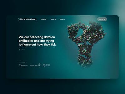 Natural Antibody labs natural sequences molecules ux design app animation landing website science bioinformatic ui