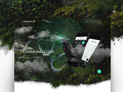 GoTalkPro kickstarter handphone ultimate gear forest outdoor iphone startup communication webdesign page landing