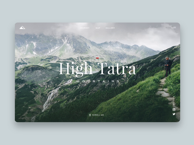 High Tatra Mountains path poland peaks valley landing design tatra mountains map journey trip travel landing  page