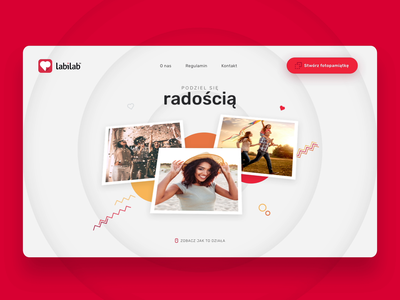 Labilab slider passion fun user interface landing page concept grey white red after effects aftereffects ui ux experiment animation album print landing page landingpage