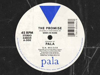 """The Promise"" Cover Cover Art for Pala pala retro vintage vinyl album artwork album art"