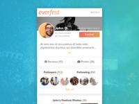 Everfest User Profile Concept