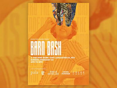 Barn Bash Show Flyer vintage sxsw austin pala collage gig poster gig flyer